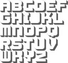 3d block letter font