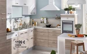 cuisine quotecorcequot couleur cendre tres sympa avec plan de With meubles de cuisine lapeyre 5 notre selection des plus belles cuisines en bois cuisine