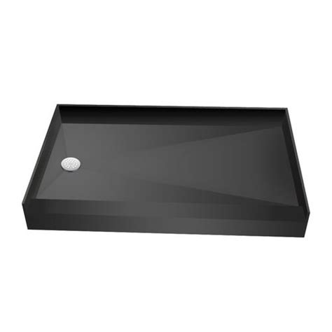 Menards 6 Drain Tile by Redi Base 174 34 X 60 Single Curb Shower Pan With Left Drain