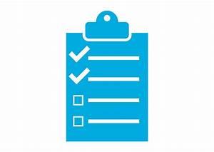 Flat Single Color Checklist Vector Icon