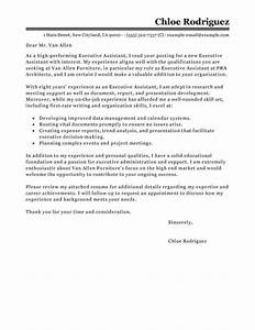 Best Executive Assistant Cover Letter Examples