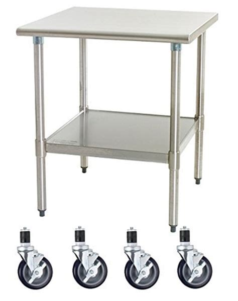 stainless steel table with casters where to buy work table with 4 casters wheels stainless