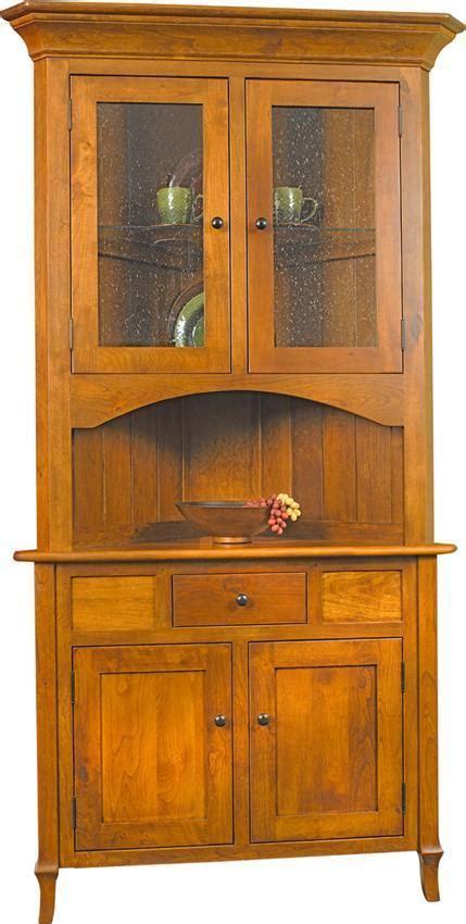jacob martin corner hutch  dutchcrafters amish furniture
