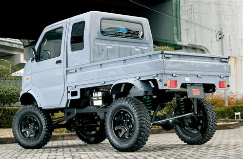 suzuki jimny lifted suzuki carry with transplanted lifted jimny suspension 4x4