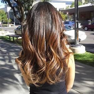 Balayage Naturel Effet Soleil Sur Brune : balayage ombre hair color for brunettes with dark caramel ~ Farleysfitness.com Idées de Décoration