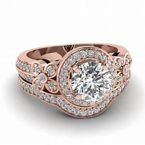 Wedding sets rose gold wedding sets for Rose gold wedding ring sets
