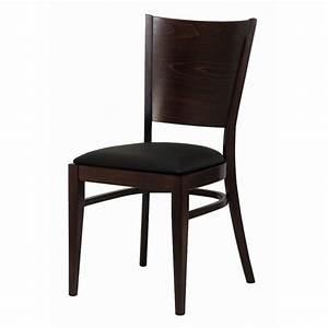 Chaise Bistrot Bois : chaise bistrot bois assise simili noir gastromastro group sas ~ Teatrodelosmanantiales.com Idées de Décoration