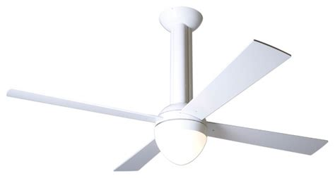 Modern White Ceiling Fans by Modern Fan Company Stratos Gloss White 42 Quot Ceiling Fan