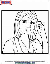 Coloring Selena Gomez Pages Portrait Quintanilla Drawing Printable Celebrity Drawings Draw Template Pencil Sketch Perez 867px 29kb Popular Hmcoloringpages sketch template