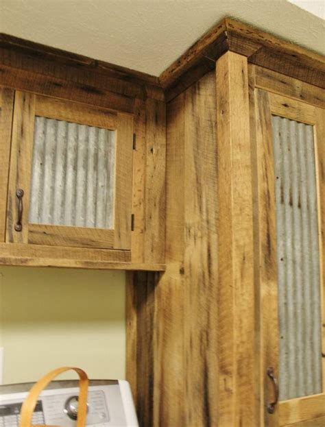rustic kitchen cabinet doors rustic storage reclaimed barn wood cabinet w tin 4982