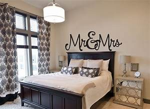 Bedroom Wall Decal - Mr & Mrs - Wall Decals by Amanda's