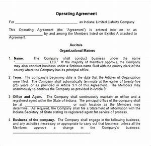Operating agreement 8 free pdf doc download for Operating agreement template word