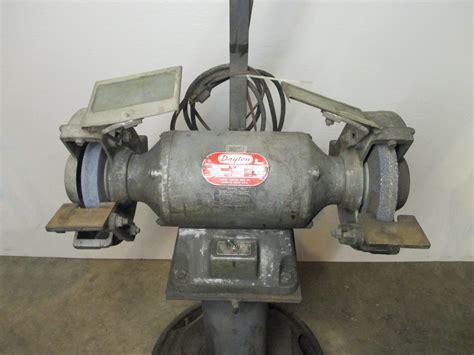 dayton bench grinder 8 quot dayton 4z909a 3 4 hp bench grinder with pedestal
