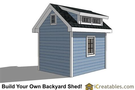 8x10 Shed Plans With Dormer Icreatablescom
