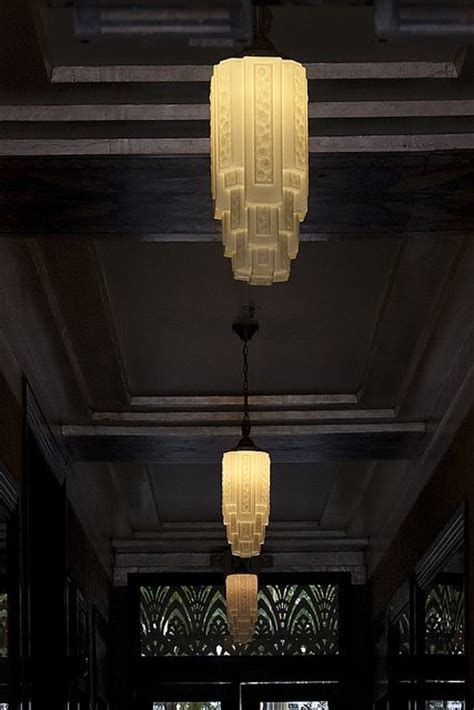 artdeco light fixture from wilshire boulevard los
