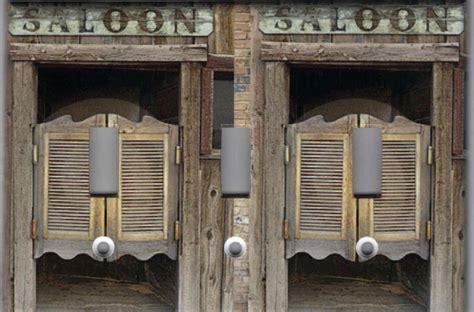 western saloon doors home wall decor triple light switch