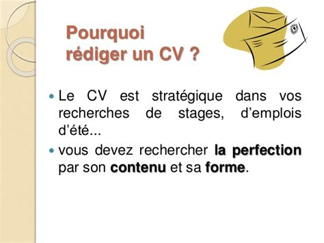 Rediger Un Cv by Rediger Un Curriculum Vitae