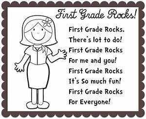 BACK TO SCHOOL poem (First Grade Rocks). Change the grade ...