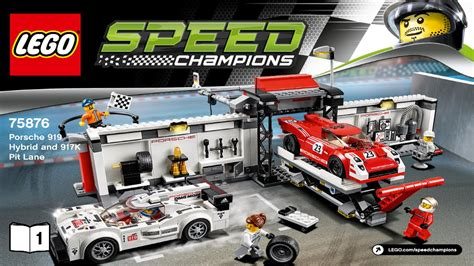 lego speed chions porsche lego 75876 porsche 919 hybrid and 917k pit speed chions booklet