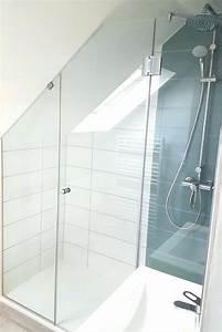 Installer Une Douche : paroi douche sous comble douche sous douche l sous nous ~ Melissatoandfro.com Idées de Décoration