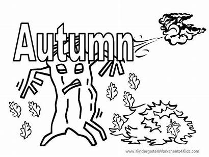 Autumn Coloring Pages Fall Word Spell