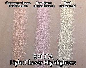 Becca Light Waves Review Becca Light Chaser Highlighters Review Swatches