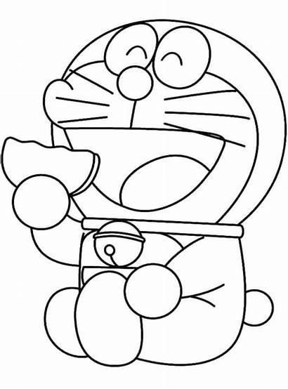 Sketsa Kartun Gambar Doraemon Kunjungi Dan Warna
