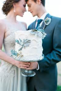 Wedding Cakes with Dusty Blue