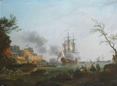 entree d un port file entree d un port avec un navire tirant une salve claude joseph vernet jpg wikimedia commons