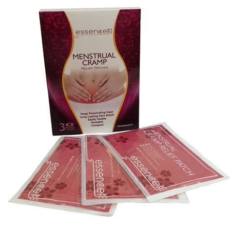 Menstrual Cramp Relief 3 Patches Package