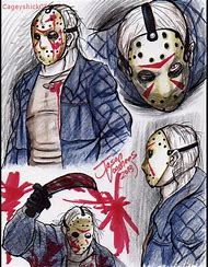 Michael Myers And Jason Voorhees Drawings