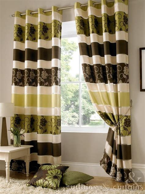 Green And Brown Shower Curtains by Chocolate Brown Taffeta Eyelet Curtain Curtains