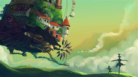 wallpaper howls moving castle turnip head meadow anime