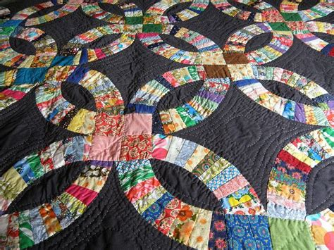 1000+ Images About Double Wedding Ring Quilts On Pinterest