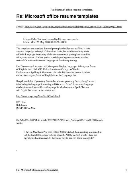 Microsoft Resumes microsoft office resume template http www resumecareer