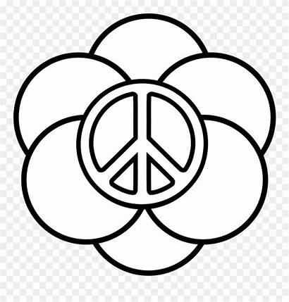 Peace Easy Drawing Coloring Sign Signs Clipart
