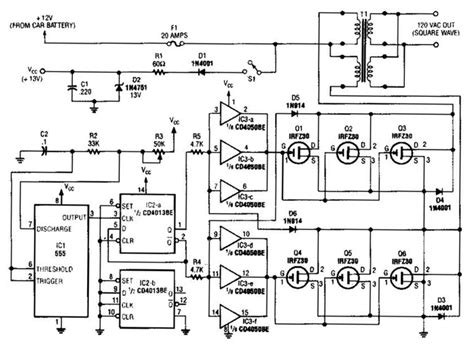 Nonstop Free Electronic Circuits Project Diagram