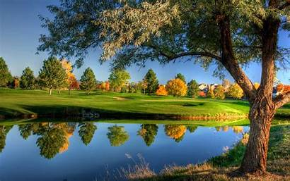 Nature Windows Wallpapers Autumn 3d Trees River
