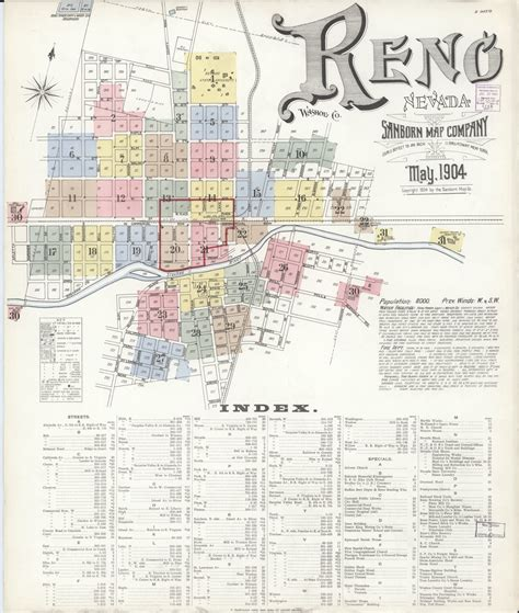 sanborn fire insurance map  reno washoe county