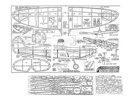 spitfire plan thumbnail balsa wood model airplane