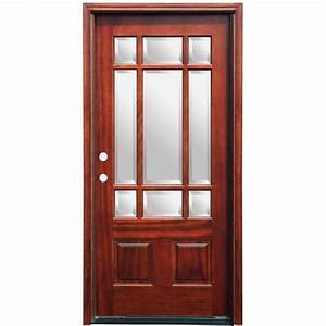 Pacific Entries 36 in. x 80 in. Craftsman 9 Lite Stained ...