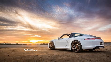 porsche  targa poses  matte bronze adv wheels