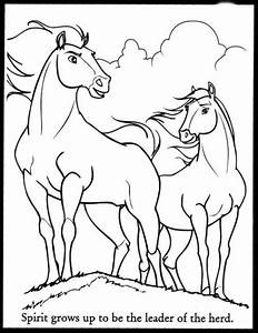 The Spirit Coloring Pages Spirit Stallion Of Cimarron And