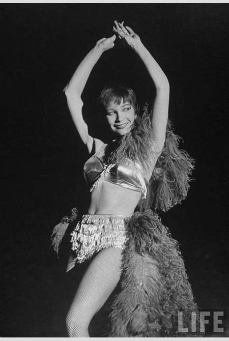 Shirley MacLaine in feathers and fishnets as a showgirl during her Japanese Las Vegas Party ...