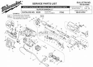 Milwaukee 6528 Parts List And Diagram