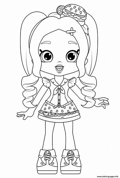 Coloring Pages Cheeseburger Chelsea Printable Shoppies Dolls
