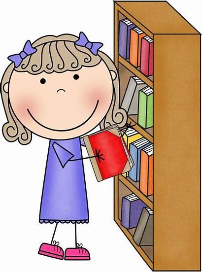 Library Classroom Clipart Clip Bookshelf Cliparts