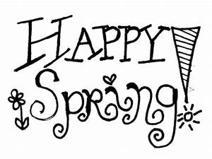 spring black and white clipart 960987 - Clip Art Magic