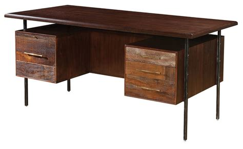 rustic wood corner desk lauren reclaimed wood executive desk rustic desks and