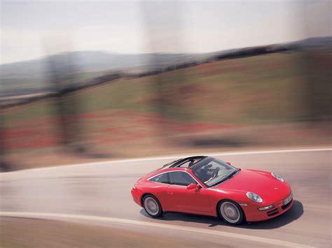 2007 Red Porsche 911 Targa 4 Wallpapers